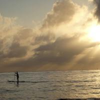 séance paddle au petit matin